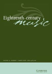 Eighteenth-Century Music article